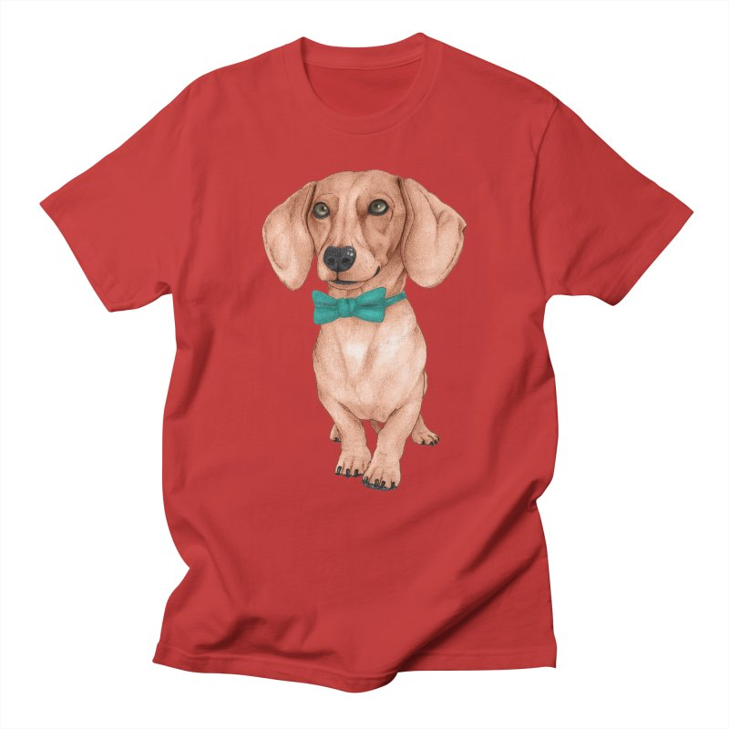 Dachshund, The Wiener Dog Men's Regular T-Shirt by Barruf