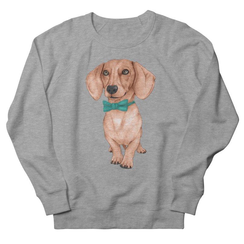 Dachshund, The Wiener Dog Men's French Terry Sweatshirt by Barruf