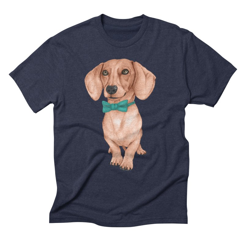 Dachshund, The Wiener Dog Men's Triblend T-Shirt by Barruf