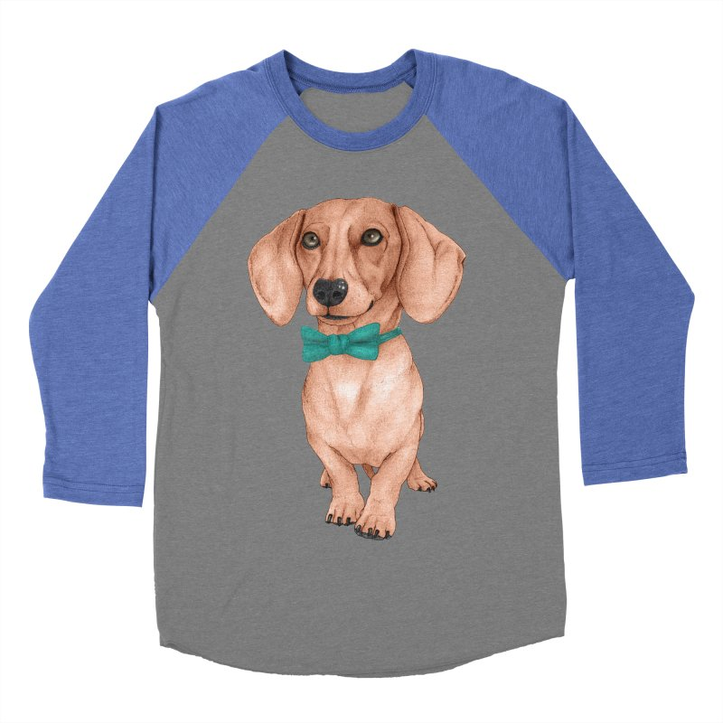Dachshund, The Wiener Dog Women's Baseball Triblend Longsleeve T-Shirt by Barruf