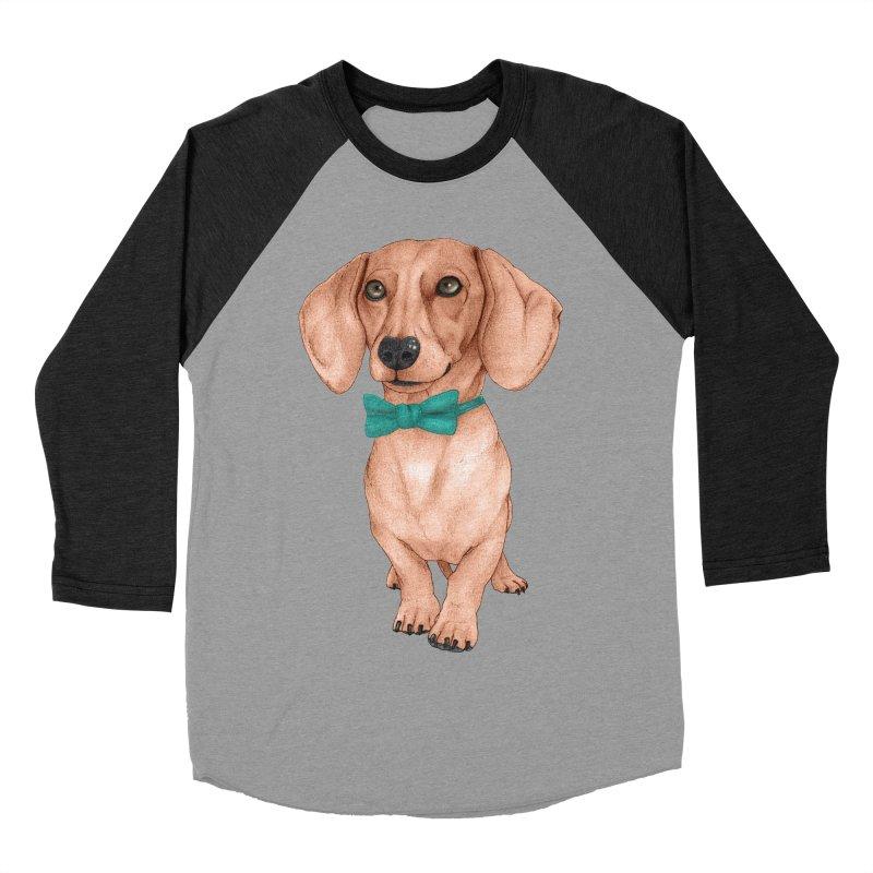 Dachshund, The Wiener Dog Women's Baseball Triblend Longsleeve T-Shirt by Barruf