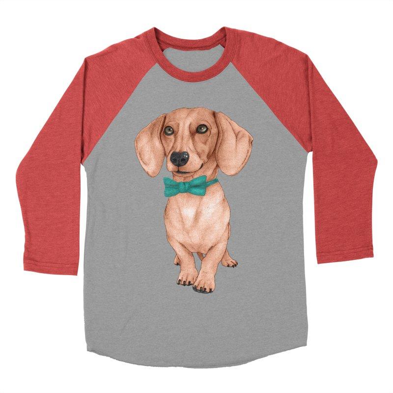 Dachshund, The Wiener Dog Men's Baseball Triblend Longsleeve T-Shirt by Barruf