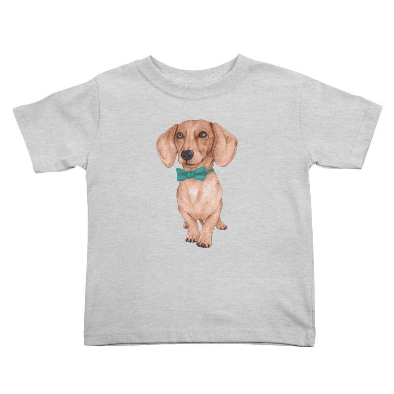 Dachshund, The Wiener Dog Kids Toddler T-Shirt by Barruf
