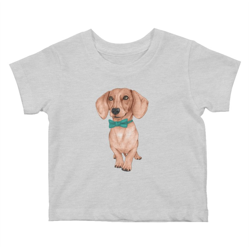 Dachshund, The Wiener Dog Kids Baby T-Shirt by Barruf