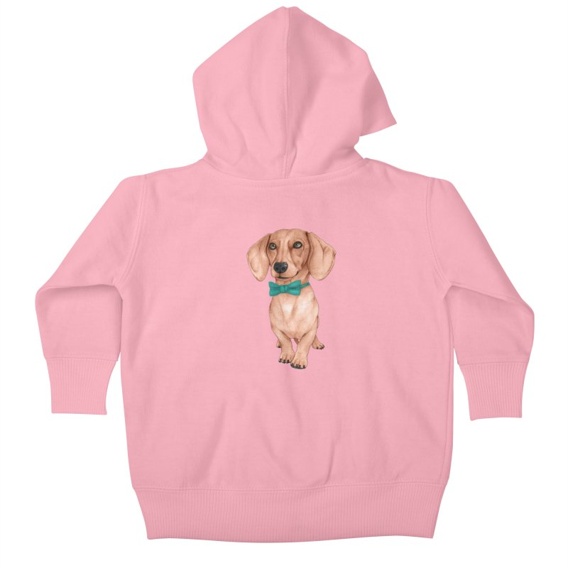 Dachshund, The Wiener Dog Kids Baby Zip-Up Hoody by Barruf