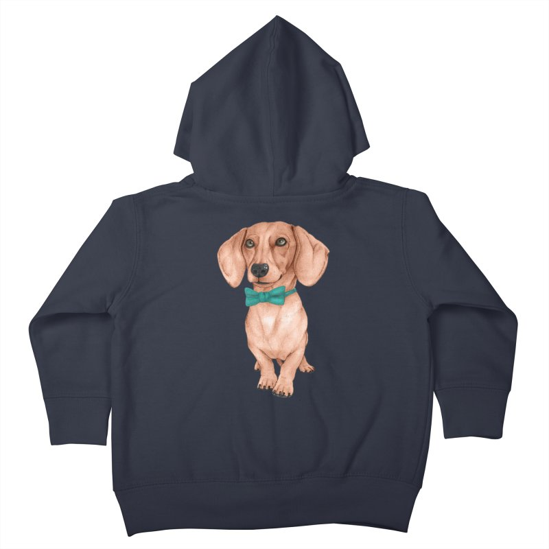 Dachshund, The Wiener Dog Kids Toddler Zip-Up Hoody by Barruf