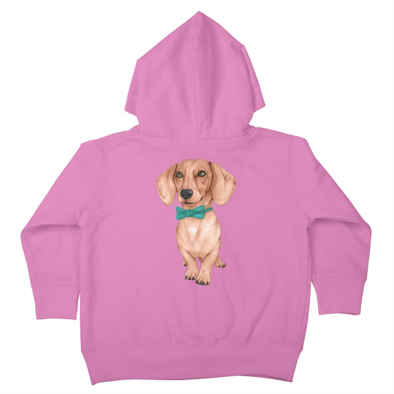 Dachshund, The Wiener Dog Kids Toddler Zip-Up Hoody by Barruf