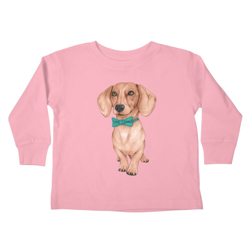 Dachshund, The Wiener Dog Kids Toddler Longsleeve T-Shirt by Barruf