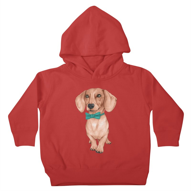 Dachshund, The Wiener Dog Kids Toddler Pullover Hoody by Barruf