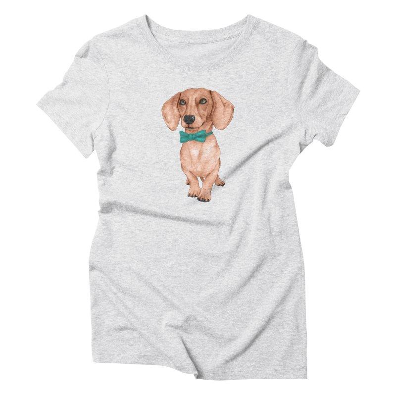 Dachshund, The Wiener Dog Women's T-Shirt by Barruf
