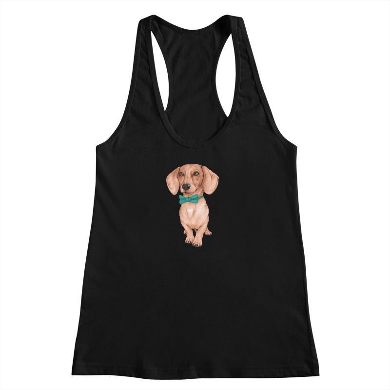 Dachshund, The Wiener Dog Women's Tank by Barruf