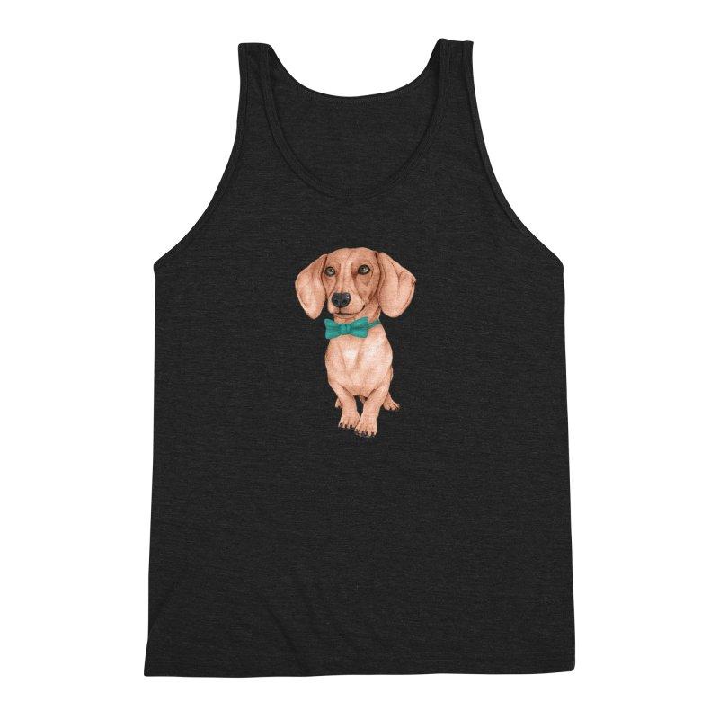Dachshund, The Wiener Dog Men's Tank by Barruf