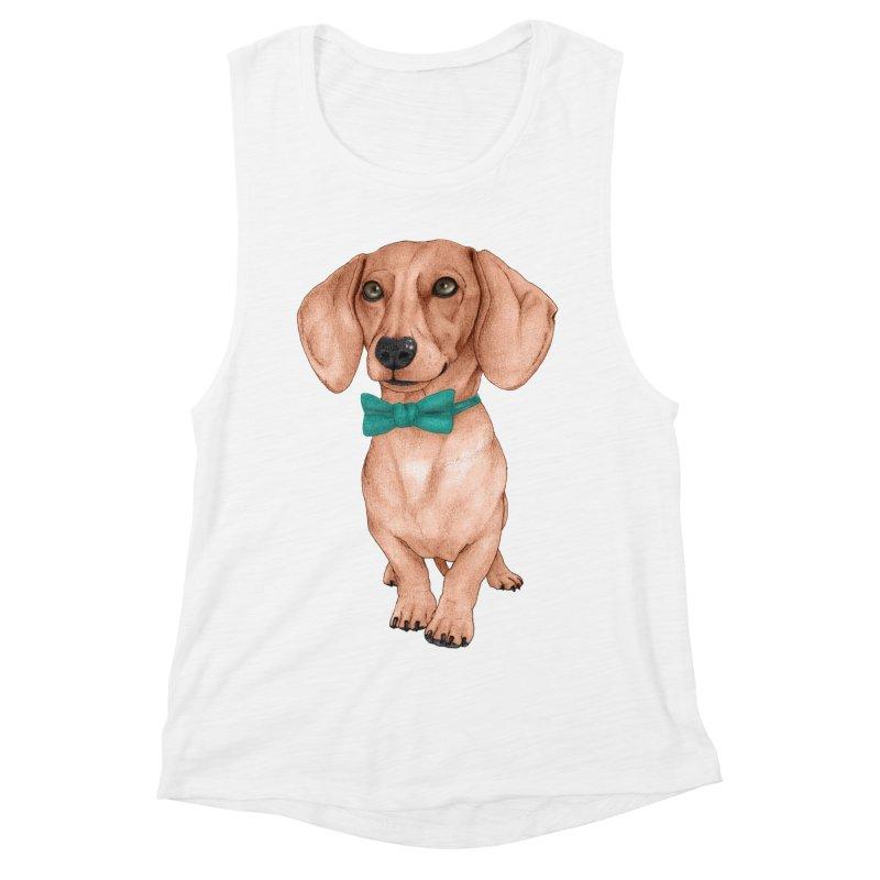 Dachshund, The Wiener Dog Women's Muscle Tank by Barruf