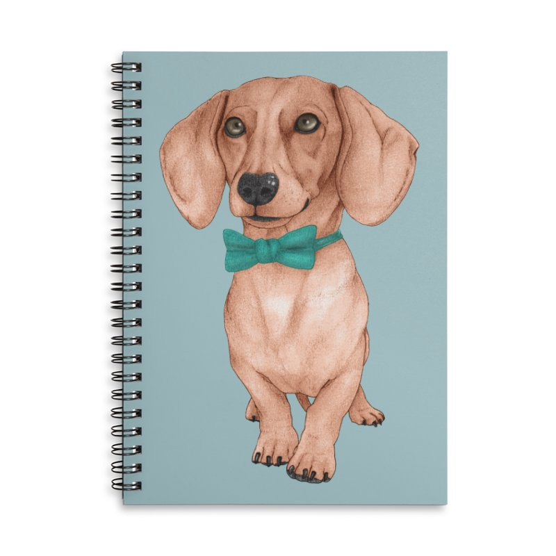 Dachshund, The Wiener Dog Accessories Lined Spiral Notebook by Barruf