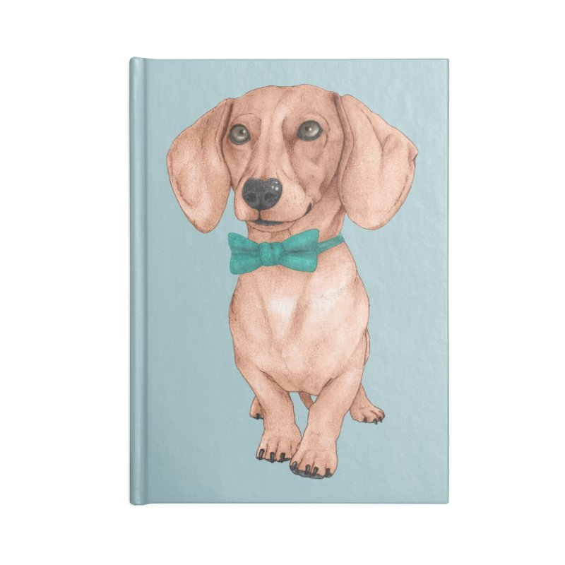 Dachshund, The Wiener Dog Accessories Blank Journal Notebook by Barruf