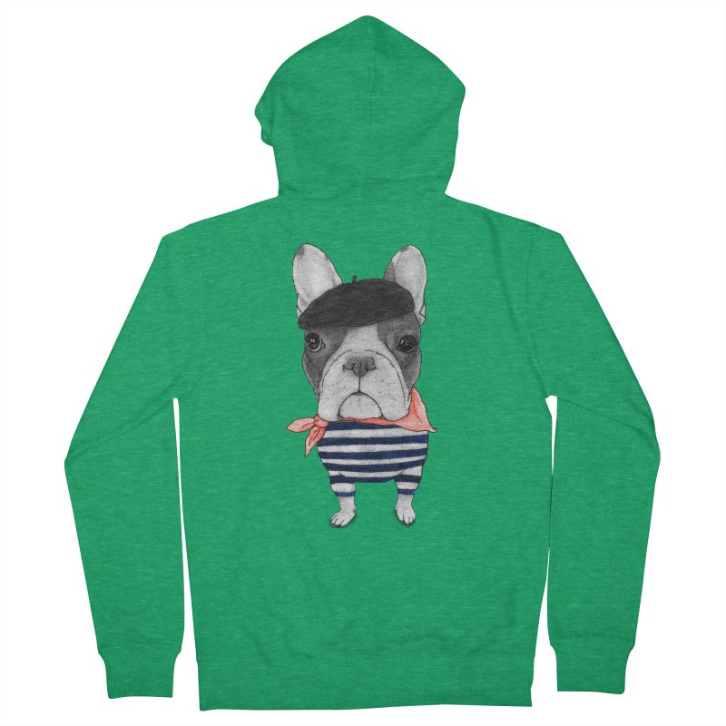 French Bulldog Men's Zip-Up Hoody by Barruf