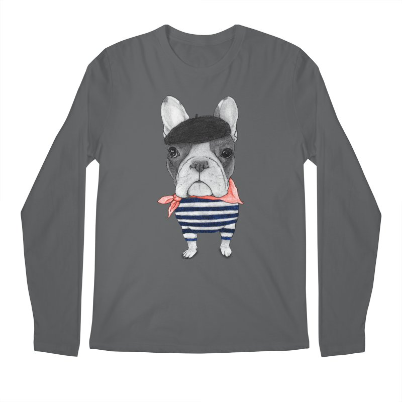 French Bulldog Men's Longsleeve T-Shirt by Barruf