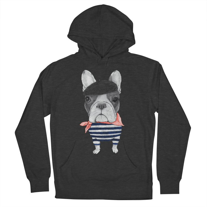French Bulldog Men's French Terry Pullover Hoody by Barruf