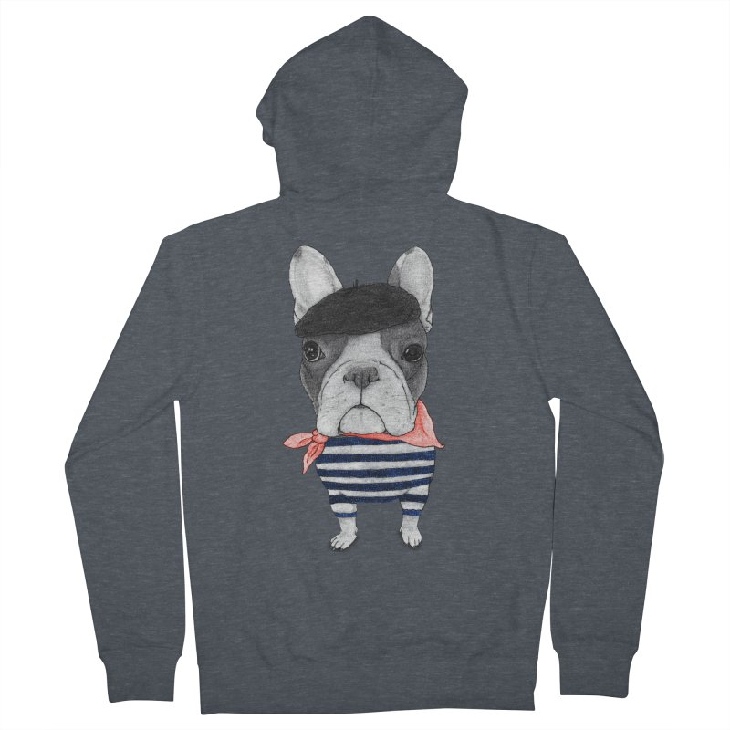 French Bulldog Women's French Terry Zip-Up Hoody by Barruf