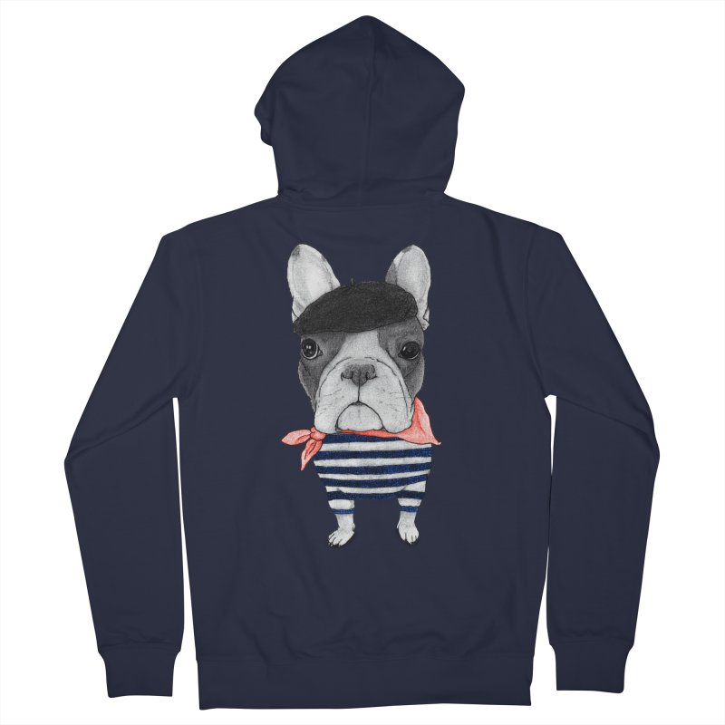 French Bulldog Women's Zip-Up Hoody by Barruf