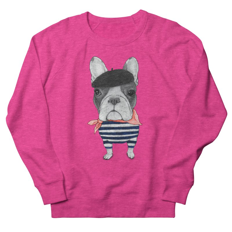 French Bulldog Women's French Terry Sweatshirt by Barruf