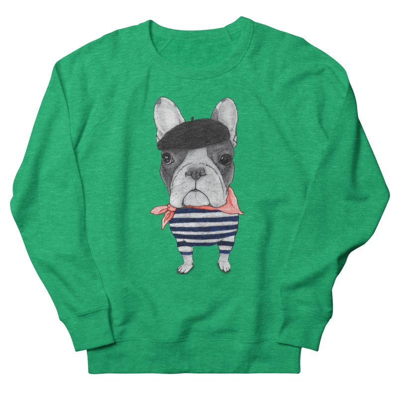 French Bulldog Men's French Terry Sweatshirt by Barruf