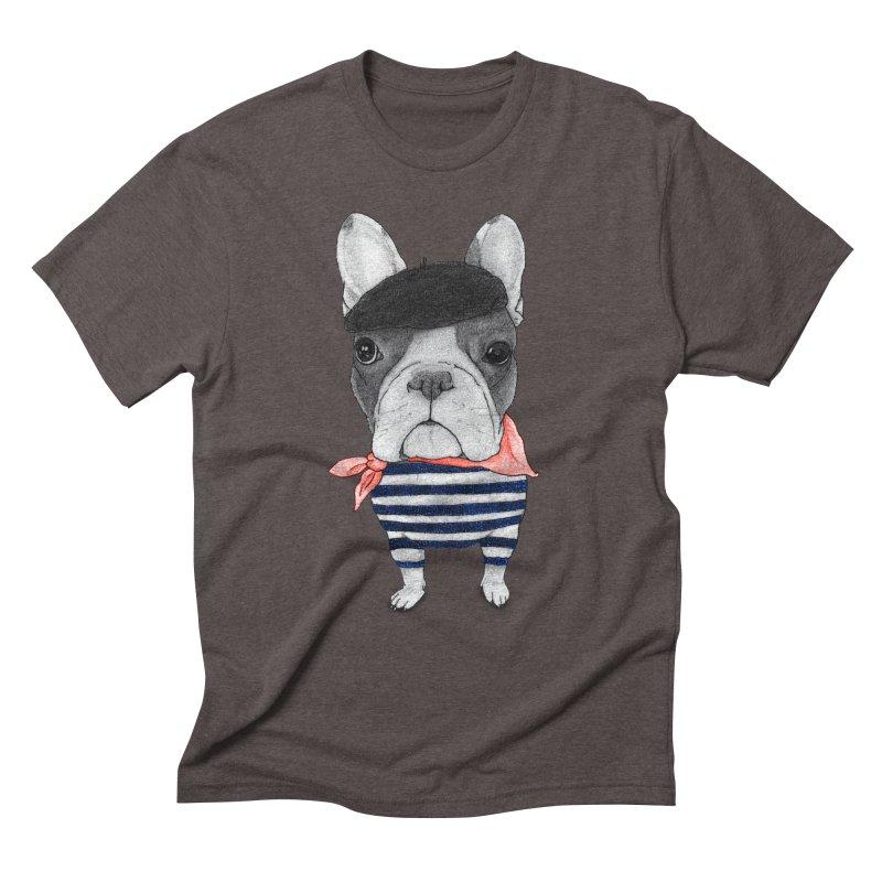 French Bulldog Men's Triblend T-Shirt by Barruf