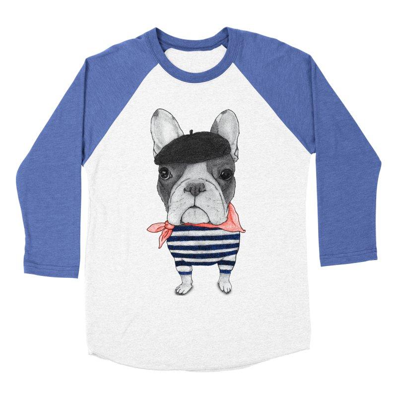 French Bulldog Women's Baseball Triblend T-Shirt by Barruf