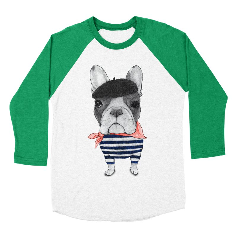 French Bulldog Women's Baseball Triblend Longsleeve T-Shirt by Barruf