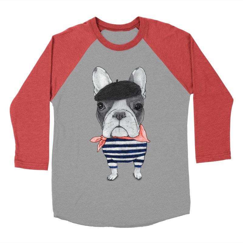 French Bulldog Women's Baseball Triblend T-Shirt by Barruf