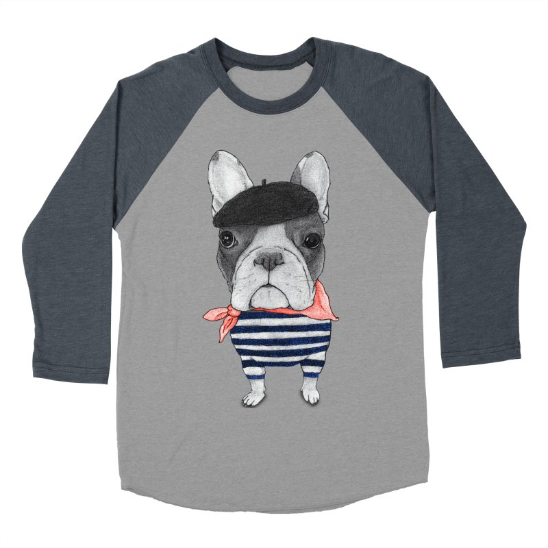 French Bulldog Women's Baseball Triblend Longsleeve T-Shirt by Barruf