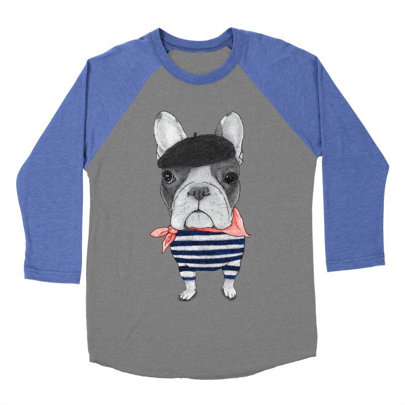 French Bulldog Men's Baseball Triblend Longsleeve T-Shirt by Barruf