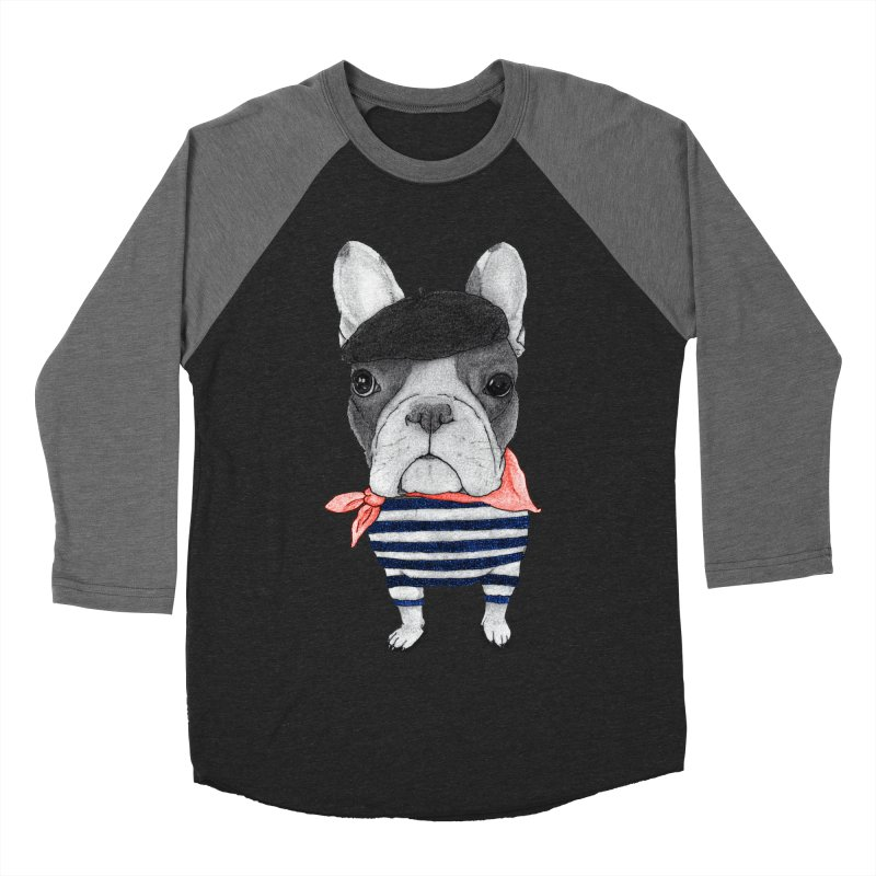 French Bulldog Men's Baseball Triblend Longsleeve T-Shirt by Barruf