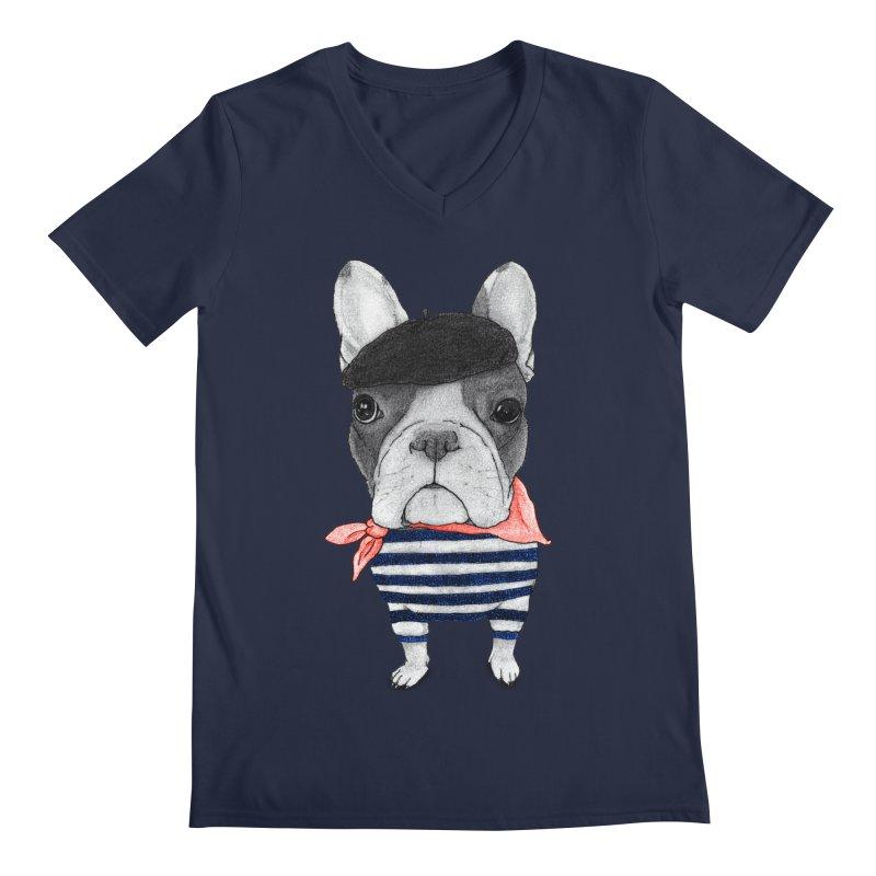 French Bulldog Men's V-Neck by Barruf