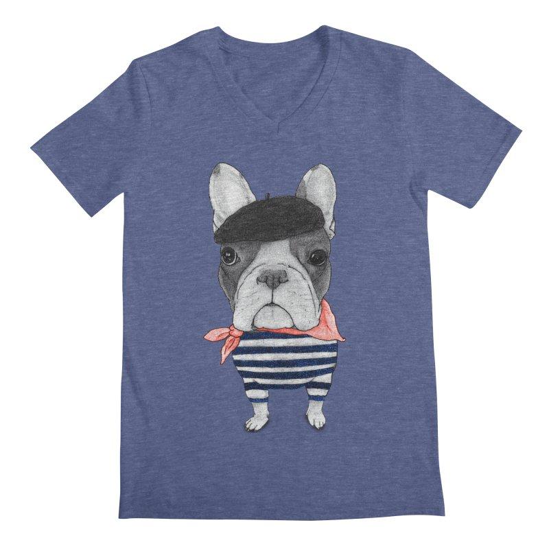 French Bulldog Men's Regular V-Neck by Barruf