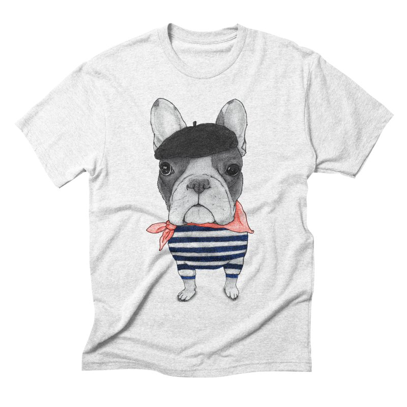 French Bulldog Men's Triblend T-shirt by Barruf