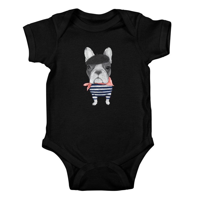 French Bulldog Kids Baby Bodysuit by Barruf