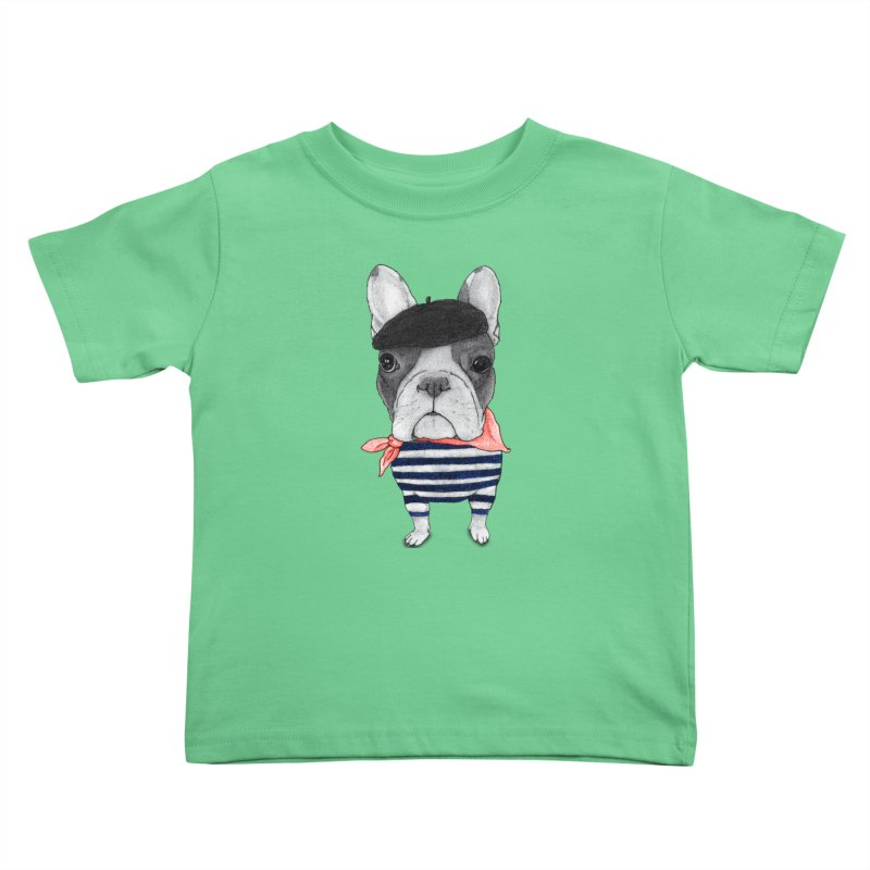 French Bulldog Kids Toddler T-Shirt by Barruf