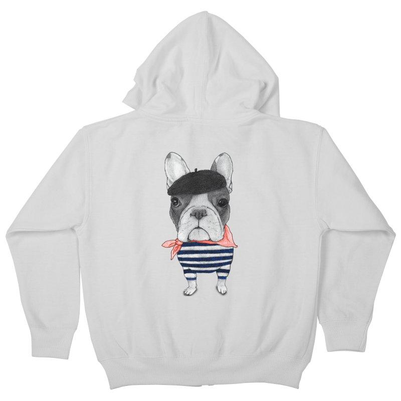 French Bulldog Kids Zip-Up Hoody by Barruf