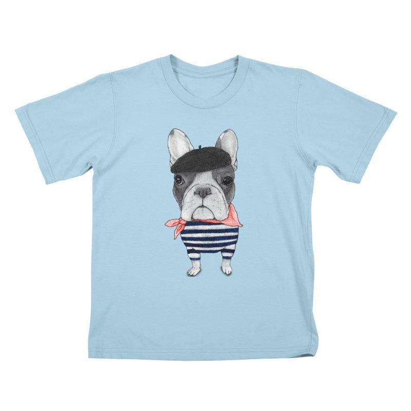French Bulldog Kids T-Shirt by Barruf