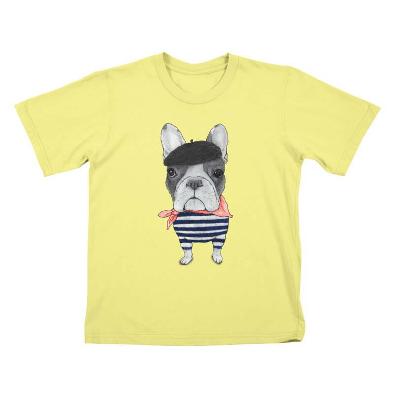 French Bulldog Kids T-shirt by Barruf