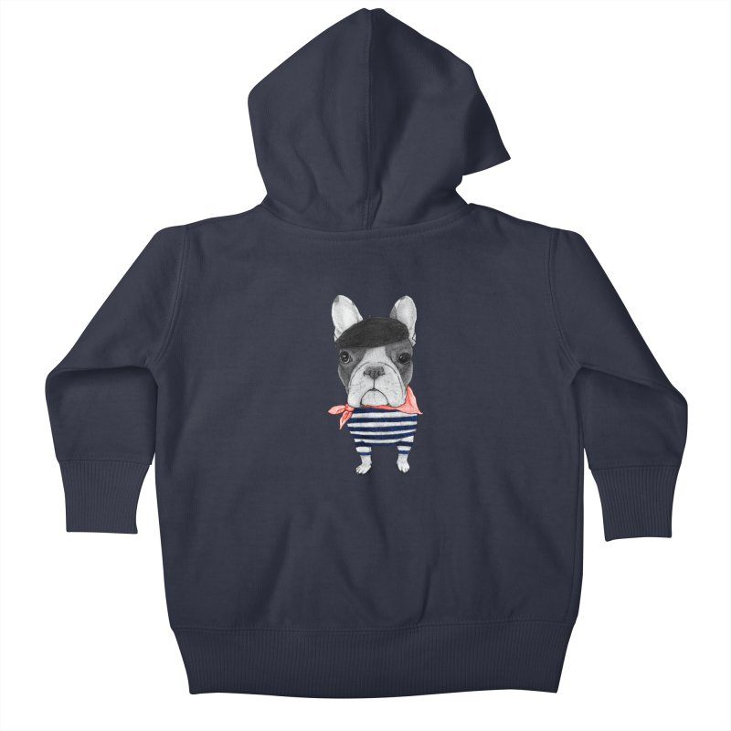 French Bulldog Kids Baby Zip-Up Hoody by Barruf