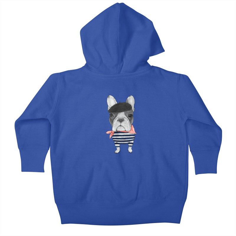 French Bulldog Kids Baby Zip-Up Hoody by Barruf