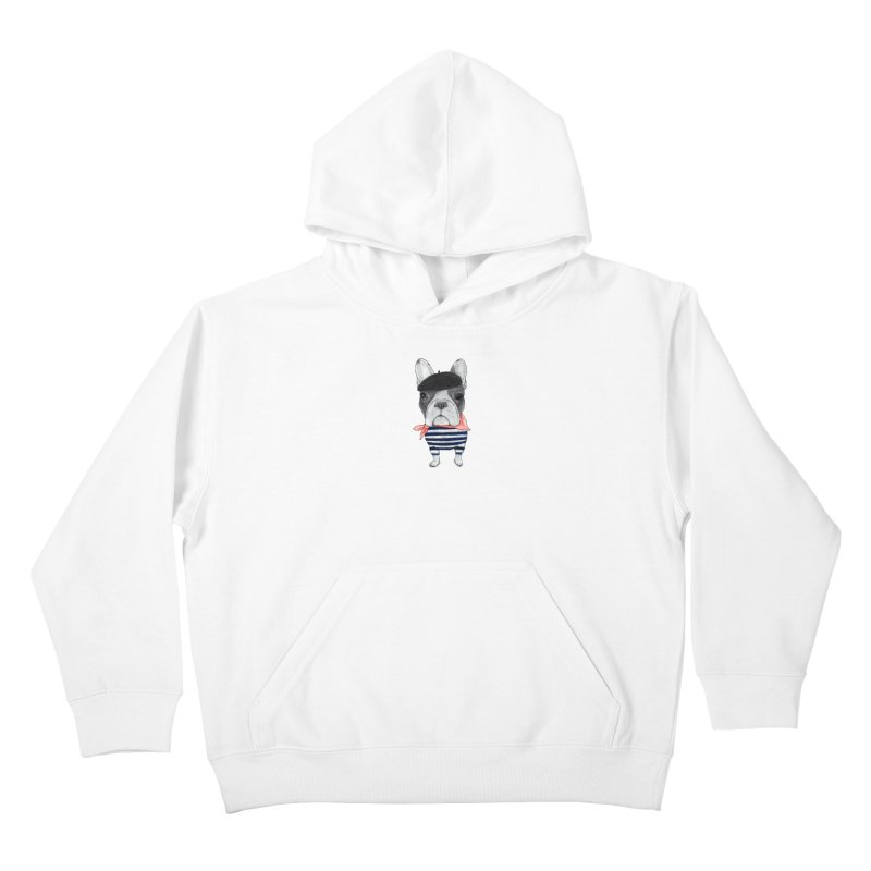 French Bulldog Kids Pullover Hoody by Barruf