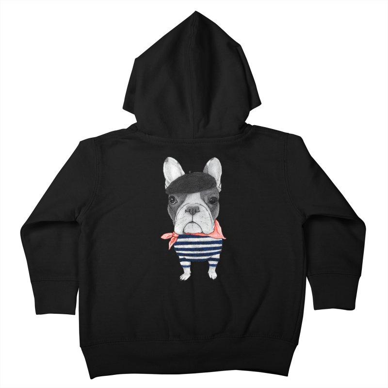 French Bulldog Kids Toddler Zip-Up Hoody by Barruf