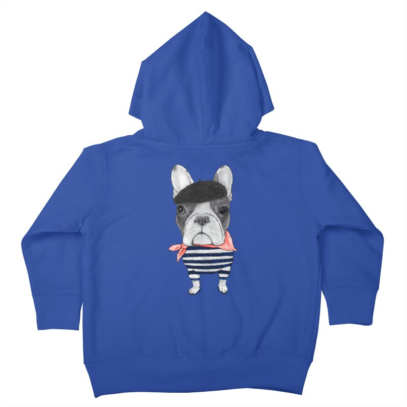 French Bulldog Kids Toddler Zip-Up Hoody by Barruf