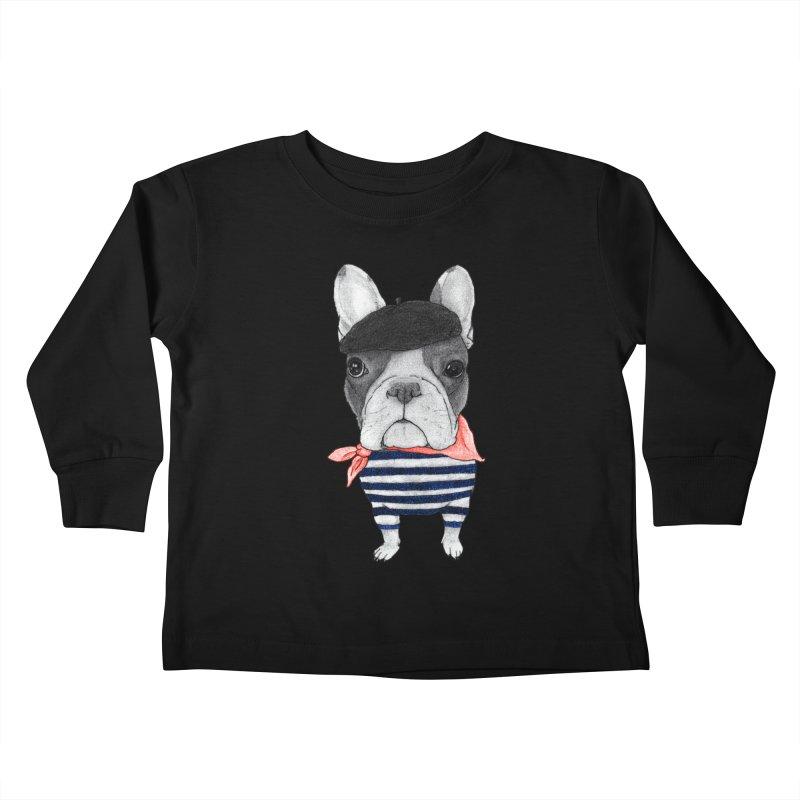 French Bulldog Kids Toddler Longsleeve T-Shirt by Barruf