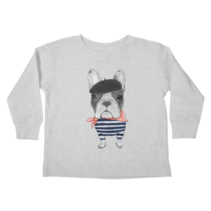 French Bulldog Kids Toddler Longsleeve T-Shirt by Barruf