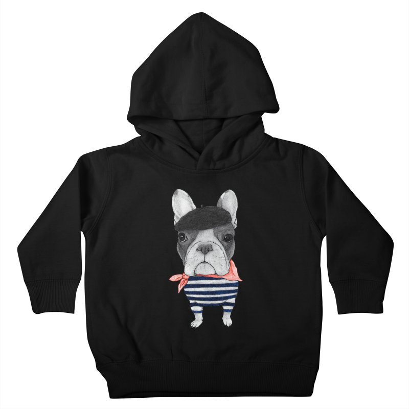French Bulldog Kids Toddler Pullover Hoody by Barruf