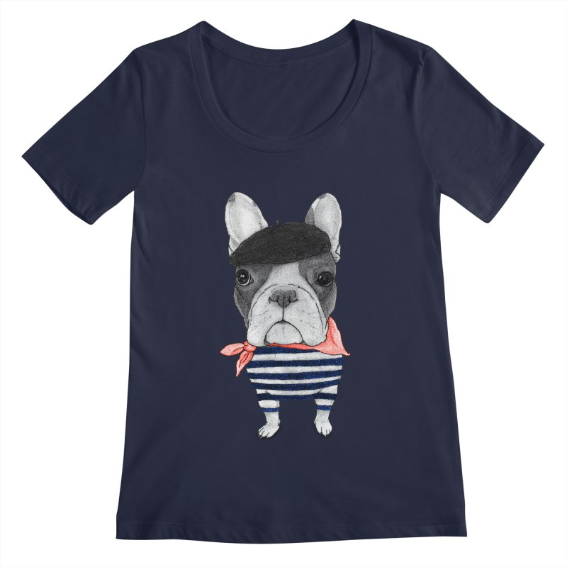French Bulldog Women's Scoopneck by Barruf